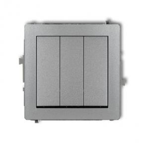 Włącznik potrójny srebrny metalik 7DWP-7 DECO KARLIK