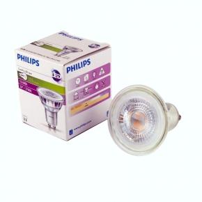 Gwint-trzonek-gu10 - żarówka led halogen gu10 ciepła 4.6w-50w 2700k philips
