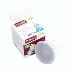 Gwint-trzonek-gu10 - żarówka halogenowa led z gwintem gu10 heda hd231l led żar. 6w-37w 430lm 120st. 6500k zimny, energy a+