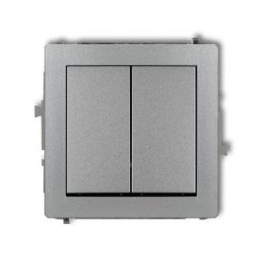 Włącznik zwierny świecznikowy srebrny metalik 7DWP-44.1 DECO KARLIK