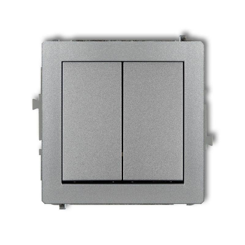 Wylaczniki-podwojne - włącznik zwierny świecznikowy srebrny metalik 7dwp-44.1 deco karlik firmy Karlik