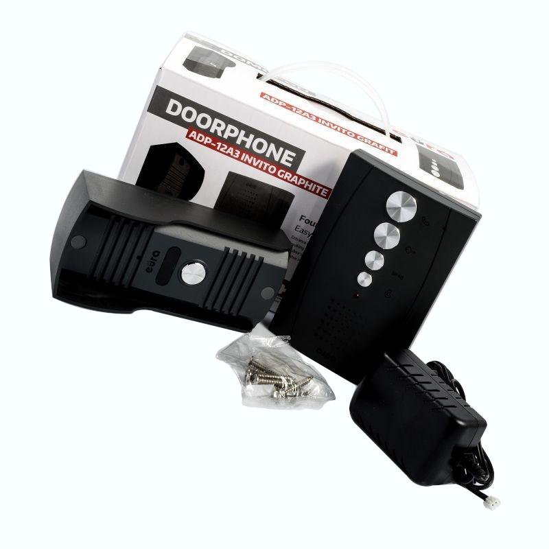 Domofony - domofon  rodzinny adp-12a3 invito grafit bezsłuchawkowy eura tech firmy EURA TECH
