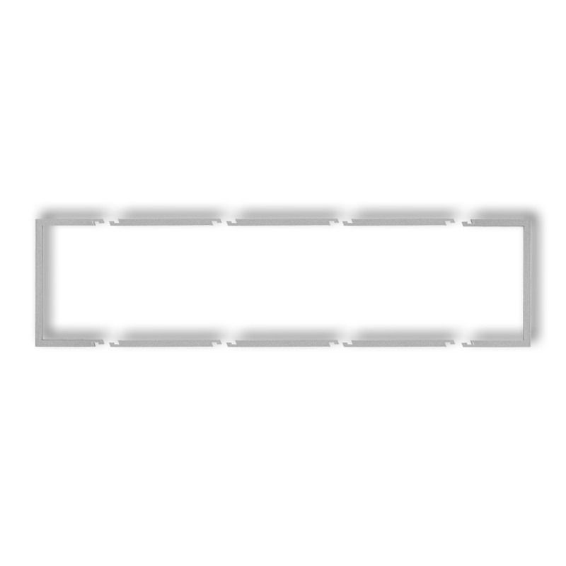 Ramki-poczworne - wypełniająca srebrna metaliczna ramka poczwórna 7drw-4 deco karlik firmy Karlik