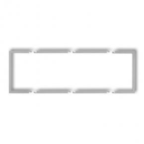 Potrójna wypełniająca ramka srebrny metalik 7DRW-3 DECO KARLIK
