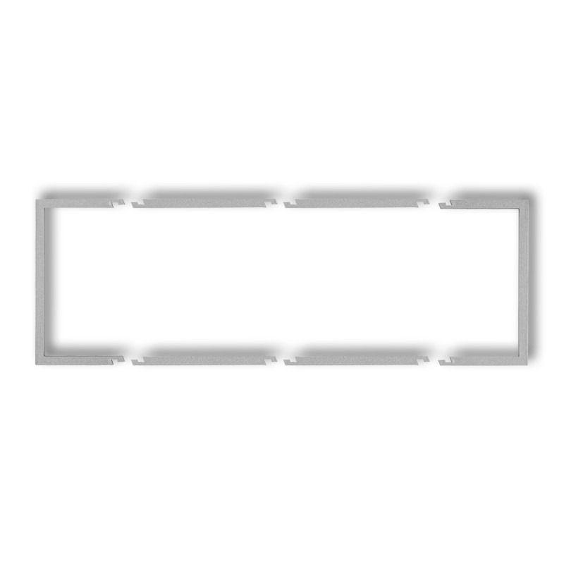 Ramki-potrojne - potrójna wypełniająca ramka srebrny metalik 7drw-3 deco karlik firmy Karlik
