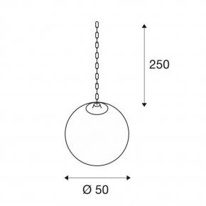 Lampy-ogrodowe-wiszace - wisząca lampa do ogrodu rotoball swing 50 biała e27 max 24w ip44 spotline
