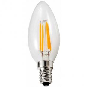 Zarowki-led - żarówka led świeczka filament 4w 470lm e14 barwa ciepła led-2722 helios