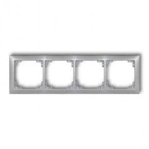 Ramki-poczworne - poczwórna ramka srebrna metaliczna 7drso-4 deco soft karlik