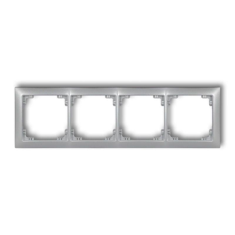 Ramki-poczworne - poczwórna ramka srebrna metaliczna 7drso-4 deco soft karlik firmy Karlik