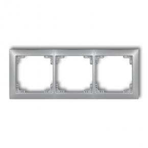 Ramki-potrojne - potrójna ramka srebrny metalik 7drso-3 deco soft karlik