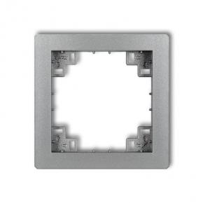 Ramki-pojedyncze - pośrednia ramka srebrna metaliczna 7drp deco karlik