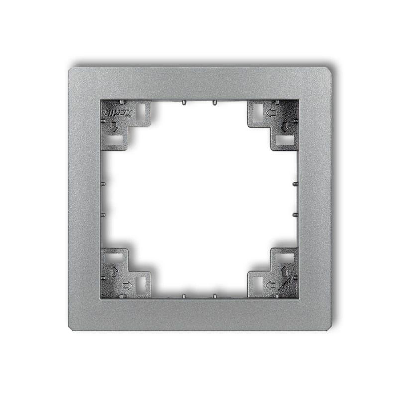 Ramki-pojedyncze - pośrednia ramka srebrna metaliczna 7drp deco karlik firmy Karlik