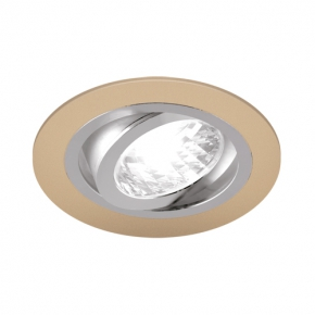 Oprawy-sufitowe - okrągła oprawa sufitowa punktowa beżowy/chrom 50w gu10 alum c 03623 ideus