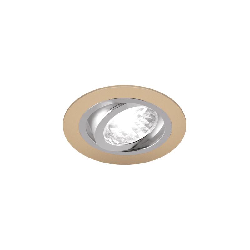 Oprawy-sufitowe - okrągła oprawa sufitowa punktowa beżowy/chrom 50w gu10 alum c 03623 ideus firmy IDEUS
