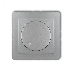 Srebrny metaliczny ściemniacz przyciskowo-obrotowy 7DRO-1 DECO KARLIK