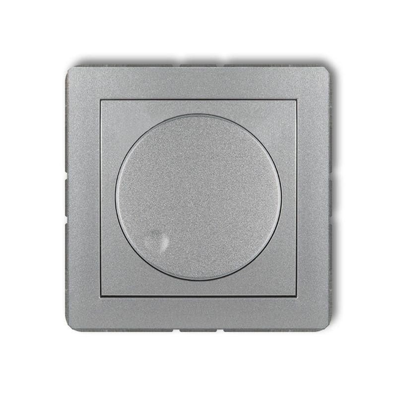 Regulatory-oswietlenia - srebrny metaliczny ściemniacz przyciskowo-obrotowy 7dro-1 deco karlik firmy Karlik