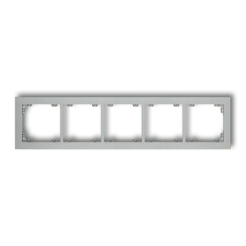 Ramki-poczworne - pięciokrotna ramka srebrny metalik 7dr-5 deco karlik firmy Karlik