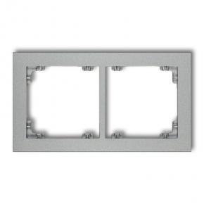 Ramki-podwojne - podwójna ramka srebrny metalik 7dr-2 deco karlik