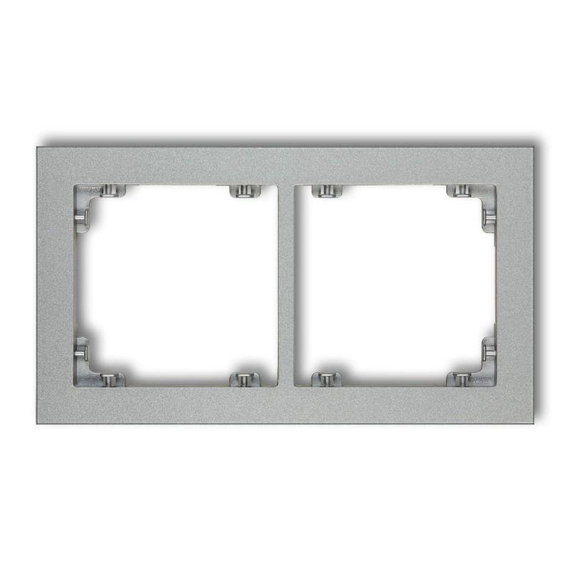 Ramki-podwojne - podwójna ramka srebrny metalik 7dr-2 deco karlik firmy Karlik