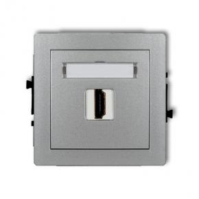 Srebrne gniazdo HDMI pojedyncze 7DHDMI-1 DECO KARLIK