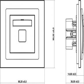 Gniazda-telefoniczne - srebrny mechanizm gniazda telefonicznego rj11 7dgt-1 deco karlik