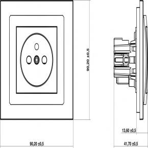 Gniazda-wlaczniki-i-akcesoria - pojedyncze srebrne gniazdo z uziemieniem 7dgp-1z deco karlik
