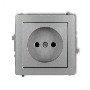 Mechanizm gniazda pojedynczego srebrnego bez uziemienia 7DGP-1 DECO KARLIK