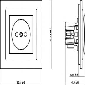 Gniazda-pojedyncze-podtynkowe - mechanizm gniazda pojedynczego srebrnego bez uziemienia 7dgp-1 deco karlik