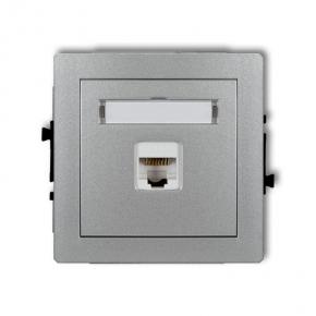 Gniazda-komputerowe - gniazdo komputerowe rj45 srebrne 5e 7dgk-1 deco karlik