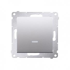 Wylaczniki-jednobiegunowe - przycisk pojedynczy zwierny z podświetleniem led srebrny dp1l.01/43 simon 54 kontakt-simon