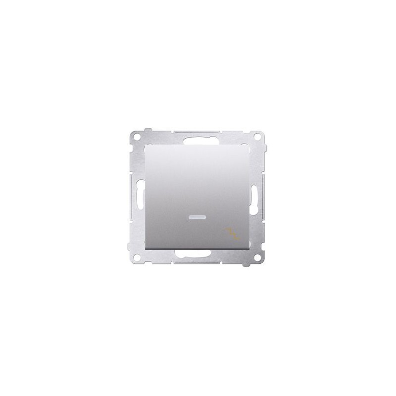 Wylaczniki-schodowe - włącznik schodowy z podświetleniem srebrny dw6al.01/43 simon 54 kontakt-simon firmy Kontakt-Simon