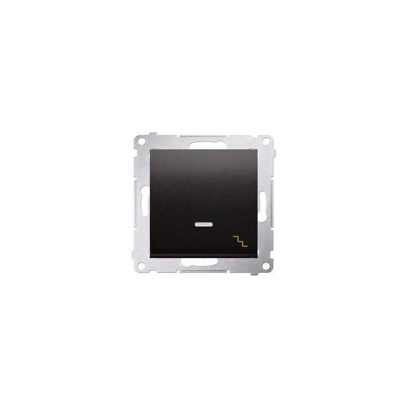 Wylaczniki-schodowe - włącznik schodowy z podświetleniem antracyt dw6al.01/48 simon 54 kontakt-simon firmy Kontakt-Simon