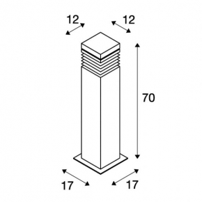 Slupki-ogrodowe - lampa stojąca do ogrodu granitowa e27 70cm 15w ip44 arrock granite 70 231411 spotline