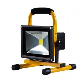 Naswietlacze-led - naświetlacz akumulatorowy przenośny led 20w 1350 lm zimny czarno-żółty vo0580 volteno