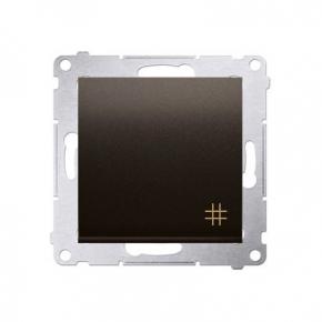 Wylaczniki-krzyzowe - włącznik krzyżowy brązowy dw7a.01/46 simon 54 kontakt-simon