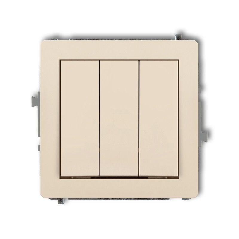 Wylaczniki-potrojne - potrójny włącznik beżowy 1dwp-7 deco karlik firmy Karlik
