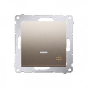 Włącznik krzyżowy z podświetleniem złoty DW7L.01/44 Simon 54 Kontakt-Simon