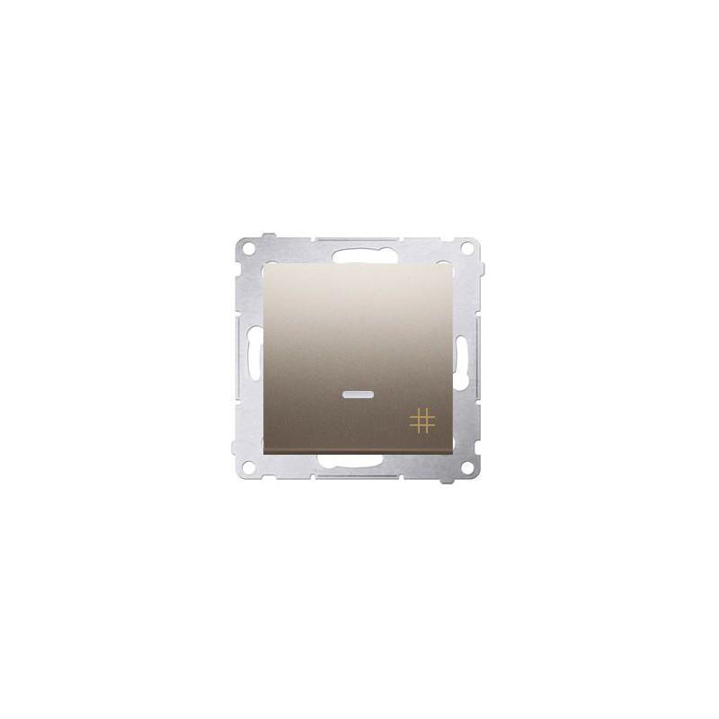 Wylaczniki-krzyzowe - włącznik krzyżowy z podświetleniem złoty dw7l.01/44 simon 54 kontakt-simon firmy Kontakt-Simon