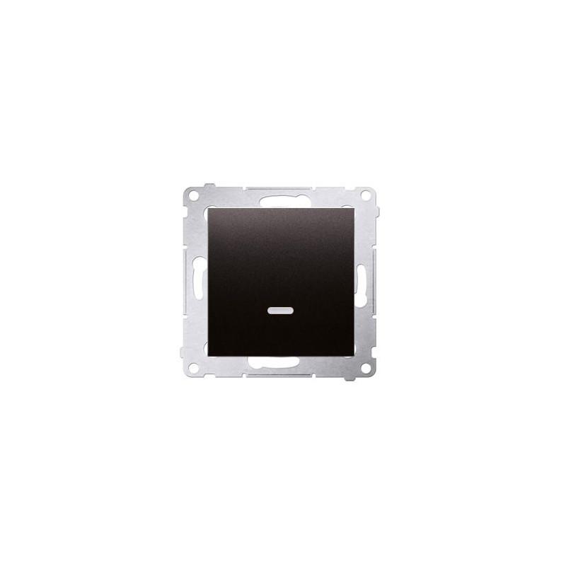 Wylaczniki-jednobiegunowe - włącznik jednobiegunowy z podświetleniem antracyt dw1al.01/48 simon 54 kontakt-simon firmy Kontakt-Simon