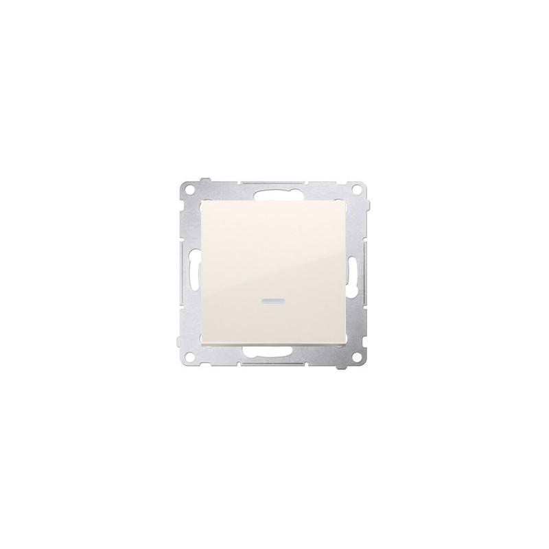 Wylaczniki-jednobiegunowe - włącznik jednobiegunowy z podświetleniem kremowy dw1zl.01/41 simon 54 kontakt-simon firmy Kontakt-Simon