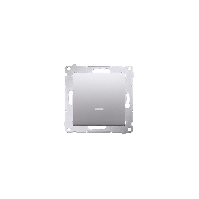 Wylaczniki-jednobiegunowe - włącznik jednobiegunowy z podświetleniem srebrny dw1zl.01/43 simon 54 kontakt-simon firmy Kontakt-Simon