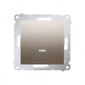 Wylaczniki-jednobiegunowe - włącznik jednobiegunowy z podświetleniem złoty dw1zl.01/44 simon 54 kontakt-simon