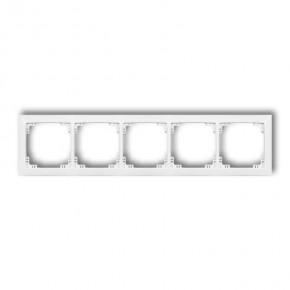 Ramki-pieciokrotne - ramka pięciokrotna biała drso-5 deco soft karlik