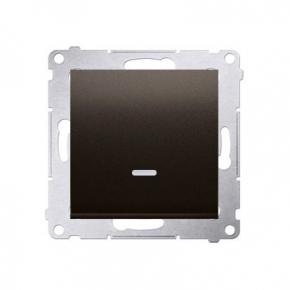 Wylaczniki-jednobiegunowe - włącznik jednobiegunowy z podświetleniem brązowy dw1zl.01/46 simon 54 kontakt-simon