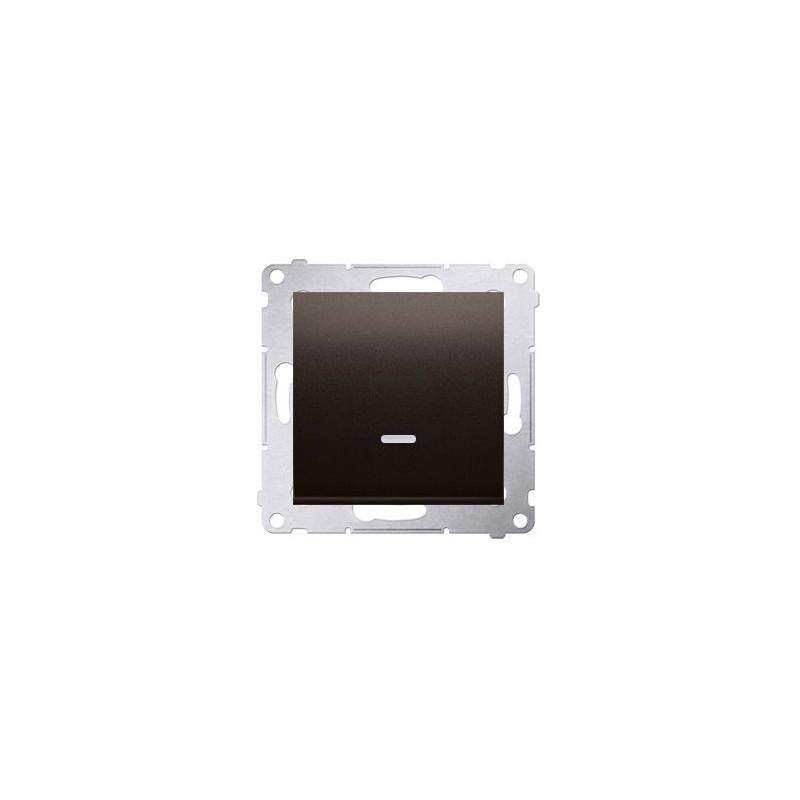Wylaczniki-jednobiegunowe - włącznik jednobiegunowy z podświetleniem brązowy dw1zl.01/46 simon 54 kontakt-simon firmy Kontakt-Simon