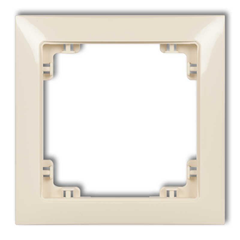 Ramki-pojedyncze - beżowa ramka pojedyncza 1drso-1 deco soft firmy Karlik