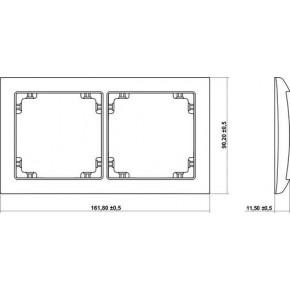Ramki-podwojne - podwójna ramka beżowa 1drso-2 deco soft karlik