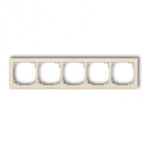 Ramki-pieciokrotne - beżowa ramka uniwersalna pięciokrotna 1drso-5 deco soft karlik