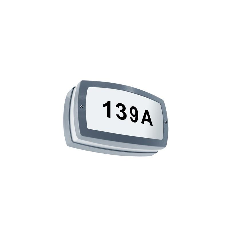 Oprawy-led-zewnetrzne - oprawa zewnętrzna z podświetlanym numerem domu solina led 03686 ideus firmy IDEUS - STRUHM