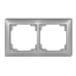 Ramki-podwojne - podwójna ramka uniwersalna srebrny metalik 7drso-2 deco soft karlik